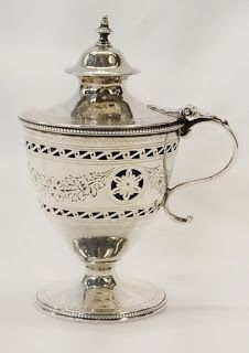 George III Silver   George III silver mustard pot, by Robert Hennell,