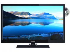 """Finlux 22"""" LED-TV m/DVD, 12V ( DVB-T/C/S)   Satelittservice tilbyr bla. HDTV, DVD, hjemmekino, parabol, data, satelittutstyr Led, Smart Tv, Tv Videos, Photo Illustration"""