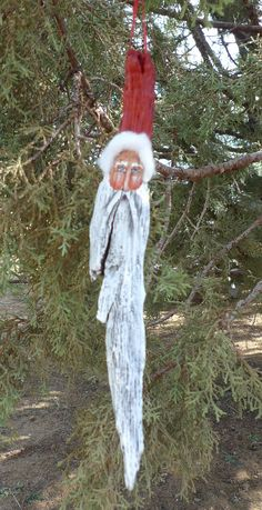 Hand made rustic collectable Santa Clause by 1RamblingPaintbrush,