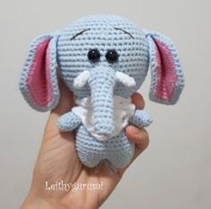 Leithygurumi: Cute Little Elephant English and Turkish Pattern