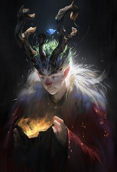 The amazing digital art - Christmas Reindeer by  YuYu Wang    Spectrum 23:...
