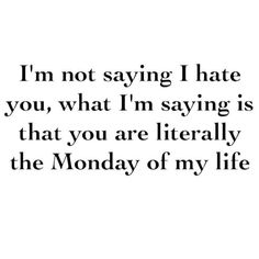 I Am Not Saying I Hate You funny quotes quote jokes lol funny quote funny quotes funny sayings monday humor instagram quotes