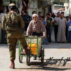 Poor peaceful Israel...defending itself against scary unarmed old men & scarier babies. Zionist fascism. Long live Palestine.