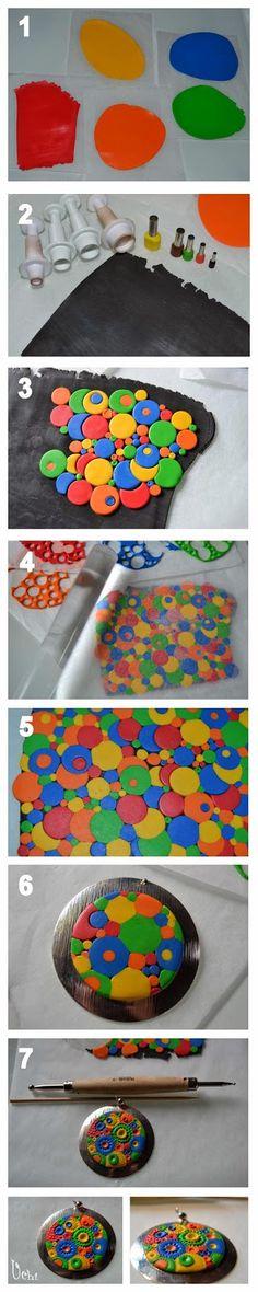 Tutorial círculos de colores - Arcilla polimérica, polymer clay | UCHI