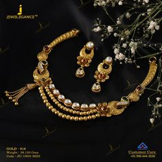 Get In Touch With us on Jewelry Design Earrings, Gold Jewellery Design, Gold Jewelry, Bridal Jewellery, Necklace Designs, Jewelry Bracelets, Gold Necklace Simple, Gold Necklaces, Necklace Set
