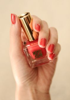 Pure Color Nail in Hot Coral