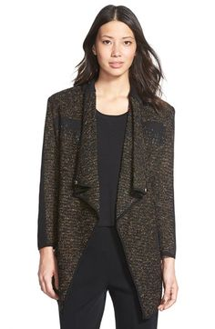 Ming Wang Drape Front Sweater Jacket available at #Nordstrom