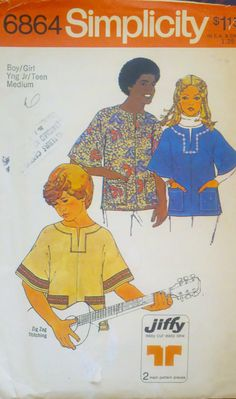 1970s Vintage Sewing Pattern Boys or Girls by Sutlerssundries, $5.00