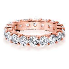 Amore 14k or 18k Rose Gold 4ct TDW Diamond Wedding Band (G-H, SI1-SI2) (18K Rose Gold - 5), Women's