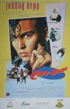 johnny depp cry baby poster Cry Baby poster 34 X 22 inch. List Price : Our Price : Johnny Depp Poster Cry Baby Cry Baby Johnny De. 1990 Movies, Iconic Movies, Good Movies, Greatest Movies, Cult Movies, Comedy Movies, Classic Movies, Cry Baby Movie, Cry Baby 1990