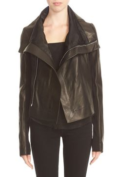 Rick Owens 'Clean' Leather Biker Jacket available at #Nordstrom