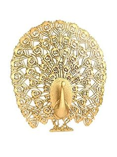 Uptown Down Vintage Peacock Wall Décor, Brass