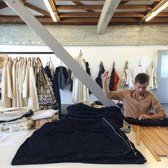 Matt Dick of Small Trade Co., studio located in the Heath Collective.