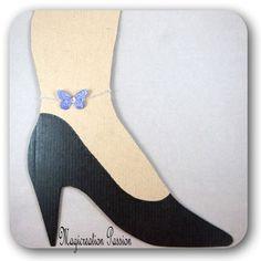 bijou, bracelet cheville papillon soie violet 3.5 cm montage argenté, bijou corps, été, romantique, collection Mia, made in France