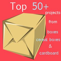 50 Plus More Projects from cereal boxes and cardboard en andere projecten, leuke site Diy Projects To Try, Crafts To Do, Home Crafts, Crafts For Kids, Diy Crafts, Diy Recycle, Reuse, Cardboard Crafts, Paper Crafts