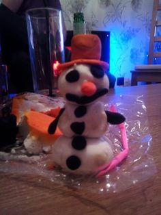 27/12/14 Snowman made from the Lush stuff...