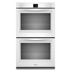 """Whirlpool - WOD51EC0AW - 30"""" Electric Double Wall Oven w/ SteamClean Option - White 