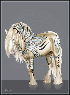 GSR Balthaz by Arktiswolf-x on Deviant art Cute Fantasy Creatures, Mythical Creatures Art, Mythological Creatures, Unicorn Drawing, Unicorn Art, Horse Drawings, Animal Drawings, Beautiful Horses, Animals Beautiful
