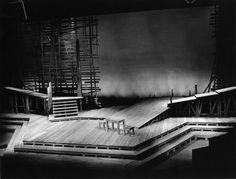 Riel. National Arts Centre Theatre. Scenic design by Robert Prévost. 1975