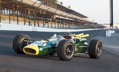 Jimmy Clark's 1965 Indianapolis Ford powered Lotus.  Clark dominated the race, leading 190 of the 200 laps of the race.