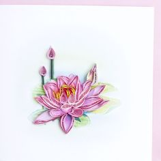 Pink Lotus, by Quilling Card