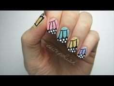 (Tutorial for) Textured Butterfly Wing Nails! - YouTube