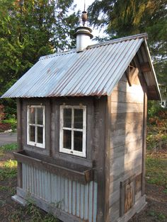 Cool Coops as seen on Community Chickens. I really like the reuse of old wood and tin roofing. I can see these hidden across our acreage some day.