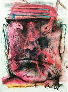 "Too much coal / Trop de charbon, Mixed media / Techniques mixtes, 12"" x 9"" / 30.5 x 23 cm X 23, It Works, Paper, Painting, Art, Painting Art, Paintings, Kunst, Paint"