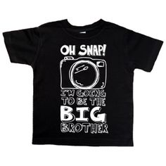 Oh Snap Funny Saying One Piece Bodysuit by VicariousClothing Second Child Announcement, Big Brother Announcement, Second Baby, 2nd Baby, Baby Love, Baby Kids, Hipster Toddler, Hipster Kid, Little Brothers