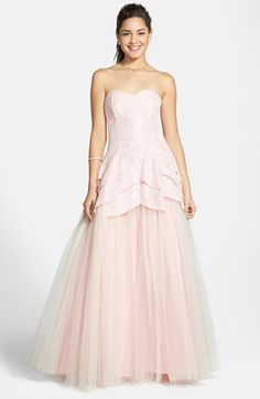 Steppin Out Strapless Tulip Gown (Juniors) available at #Nordstrom