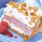 Raspberry-Pistachio Ice Cream Pie with Almond Praline