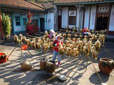 green mustard drying, Taiwan