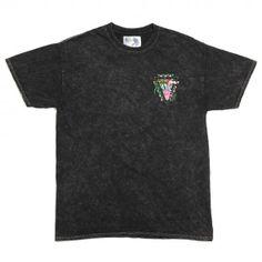 RIPNDIP Malibu Flamingo black acid wash T shirt - T Shirts - Clothing | Manchester's Premier Skateboard Shop | NOTE Skate Shop Manchester
