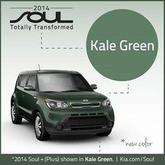2014 Kia Soul, Kale Green - My NEW CAR !