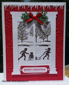Stampin Up Card Kit Holiday Tree Christmas Lodge Handmade window season Homemade Christmas Cards, Christmas Cards To Make, Xmas Cards, Kids Christmas, Handmade Christmas, Homemade Cards, Holiday Cards, Christmas Crafts, Christmas Music