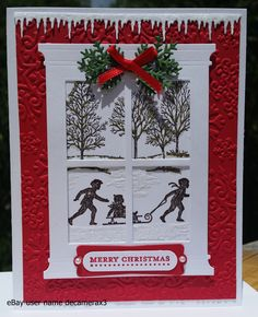 Stampin' Up! Welcome Christmas & Lovely As A Tree Handmade Christmas card…