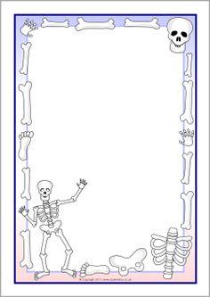 Skeletons A4 page borders (SB7853) - FREE @ SparkleBox