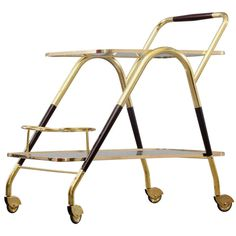 Bar Trolley by Cesare Lacca Italy | From a unique collection of antique and modern bar carts at http://www.1stdibs.com/furniture/tables/bar-carts/
