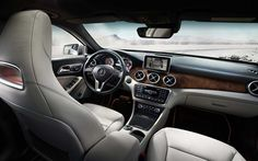 The stylish and spacious interior of the GLA-Class is perfect for any endeavor! #MercedesBenz #GLA