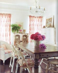 Smocked curtains are just adorable.  Romantic Prairie Style by Fifi O'Neill
