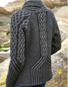 relief knit sweater