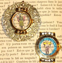 I made these charms using watch cases that I salvaged from some old watches that I bought at a yard sale.... This past weekend wasn't as ful...