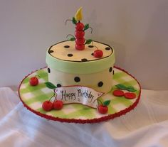 Mary Englebreit inspired cake.  How cute!  My amazing, cake-baking niece...how about for my 60th next year?!