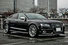 Mean black Audi