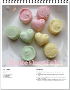 #Kindheitserinnerungen #Kokoskonfekt im 80er Look Tasty, Yummy Food, Candy Recipes, Cakes And More, Sweet Tooth, Sweets, Cooking, Breakfast, Desserts