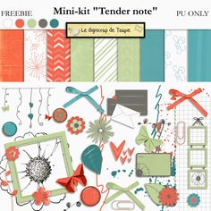 Le Digiscrap de Toupie/Toupie's Digiscrap: FREEBIE: mini-kit Tender note - september 2014
