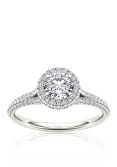 Belk  Co.  1 ct. t.w. Halo Diamond Engagement Ring in 14k White Gold