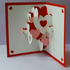Top 10 handmade pop up greeting cards handmade cards pinterest diy valentine heart collage pop up card 10 custom bathtub coupons reserved for topc m4hsunfo