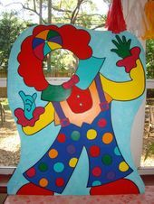 Circus or Carnival Themed Clown - Party Photo Props - Clown Event Photo Prop - Lisa Archer Circus or Diy Carnival, Carnival Themed Party, Party Themes, Event Photos, Party Photos, Outdoor Photo Props, Clown Party, Stick Photo, Background Diy