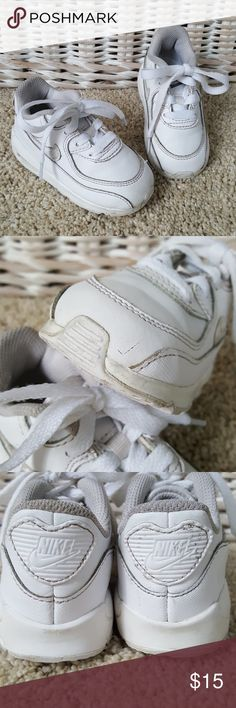 Nike Air Max Sneaker Toddler Size 6 Nike Air Max in all white. Very good used condition. One small scuff on left toe as shown. Toddler size 6. From a smoke-free home. Nike Shoes Sneakers